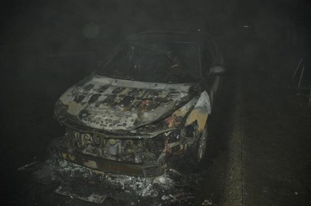 ВСумах міліція розшукує зловмисників, які підпалили автомобіль новообраного депутата міської ради
