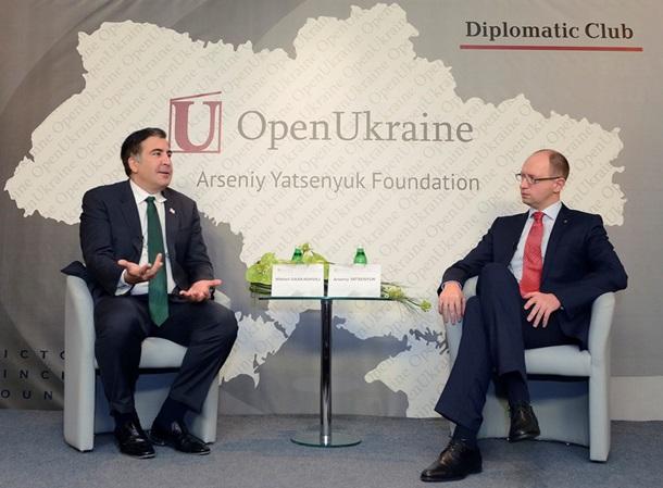 1707891 Саакашвили vs Яценюк: конфликт нарастает