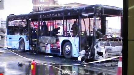 14 людей згоріли живцем під час пожежі автобуса вКитаї