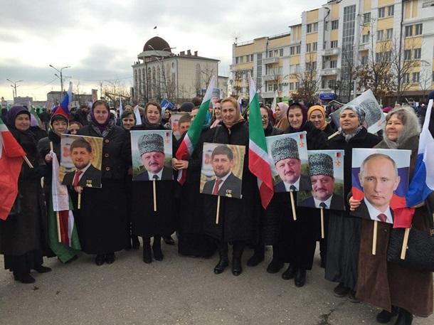 Митинг вподдержку Кадырова собрал млн. человек— Чеченское телевидение