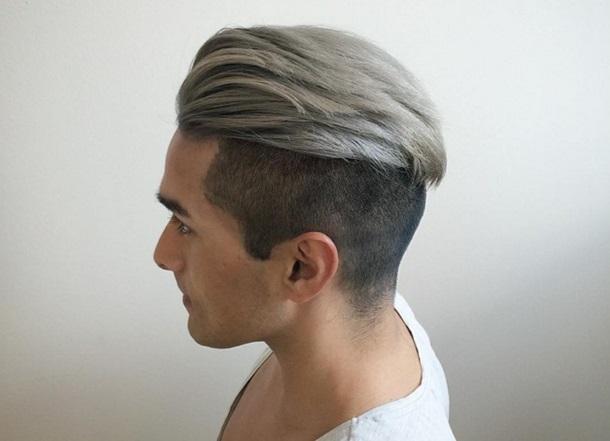 Седые волосы у молодых парней