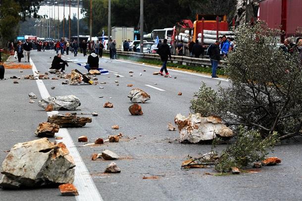 Протесты фермеров в Греции переросли в столкновения