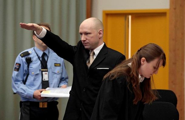 Брейвик поздоровался с судом нацистским жестом