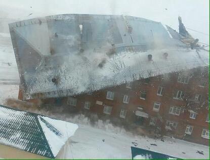 В России ураган снес крышу пятиэтажки