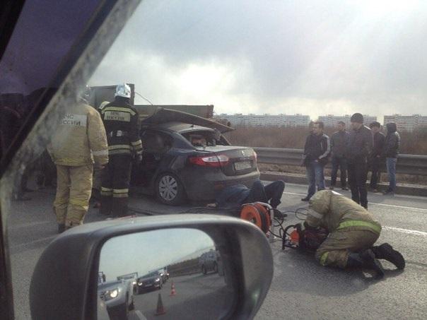 В России в ДТП попал вертолет