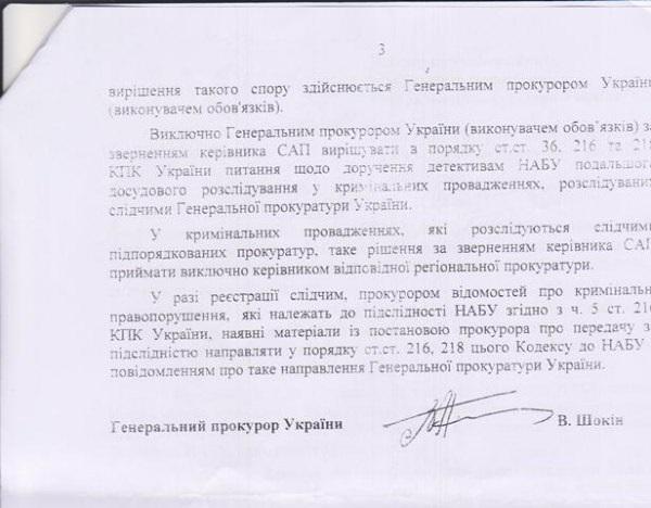 Никаких запретов о передаче дел в НАБУ Шокин не выдавал и ничего не запрещал, - Куценко - Цензор.НЕТ 8223