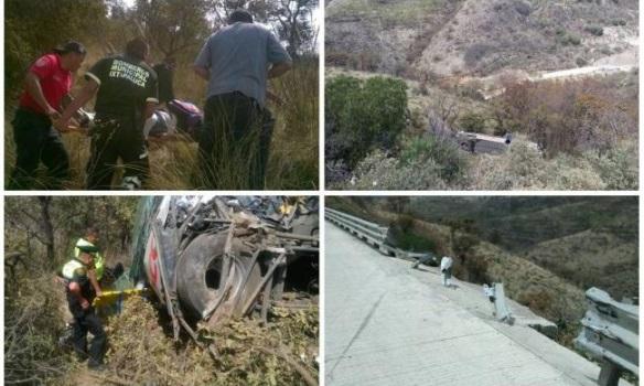 В Мексике автобус упал с 30-ти метрового обрыва