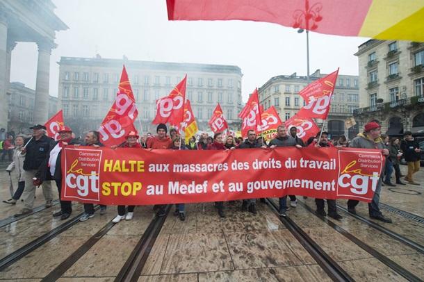 Во Франции протестуют против реформ трудового законодательства
