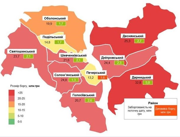 Долг киевлян за свет вырос на 180 млн. гривен