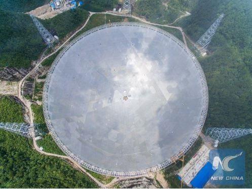 У Китаї побудували гігантський радіотелескоп