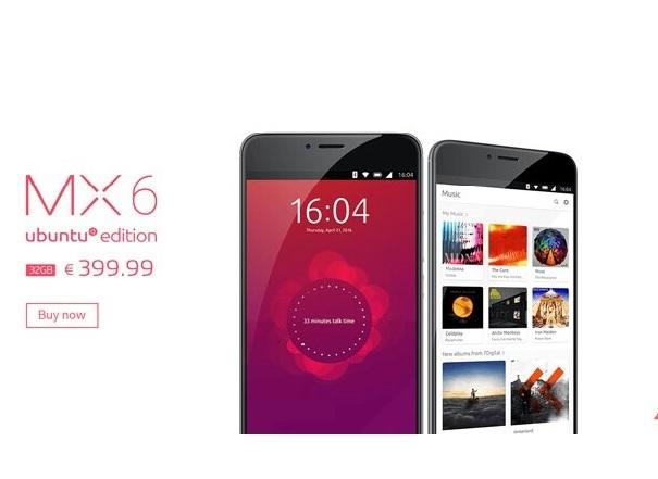 Готовится Meizu MX6 наОС Ubuntu