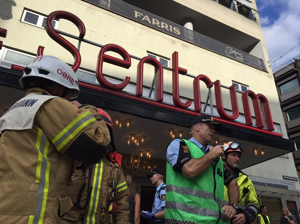 ВОсло как минимум 15 человек пострадали при обрушении потолка вконцертном зале
