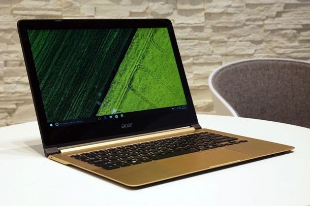 Acer представил самый тонкий ноутбук в мире