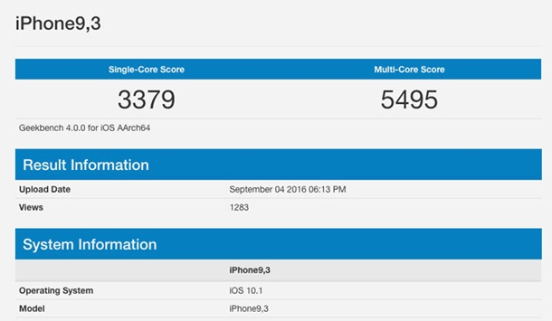 IPhone 7 Plus замечен вбенчмарке Geekbench