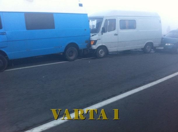 ВоЛьвовской области столкнулись 11 авто