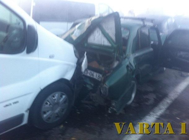Натрассе под Львовом из-за дыма разбились 11 авто