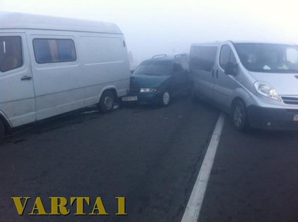 Натрассе вблизи Львова случилось масштабное ДТП сучастием 11 авто