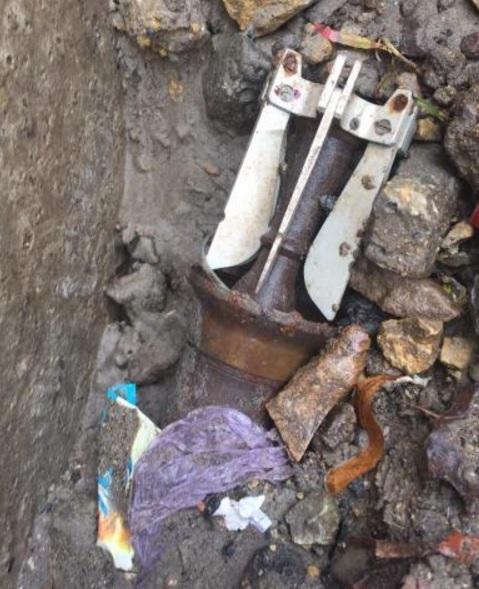 НаКПВВ «Зайцево» таможенники обнаружили неразорвавшийся снаряд— смертоносная находка