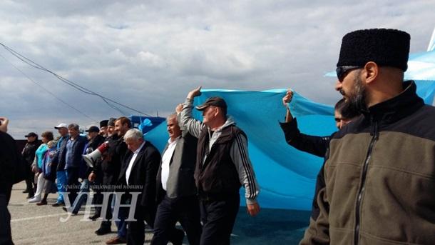 Активисты провели акцию награнице оккупированного полуострова— Годовщина блокады Крыма