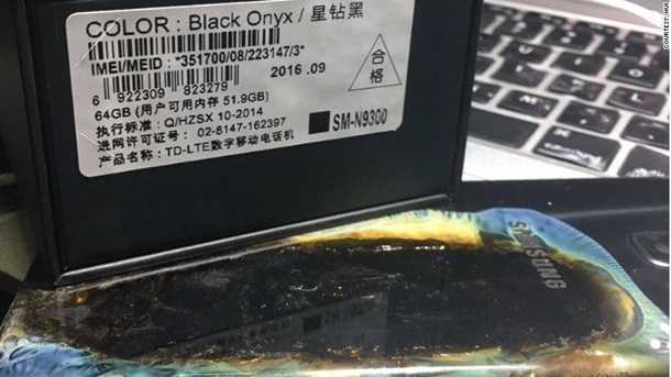 Galaxy Note 7 из новой партии взорвался и обжог владельца