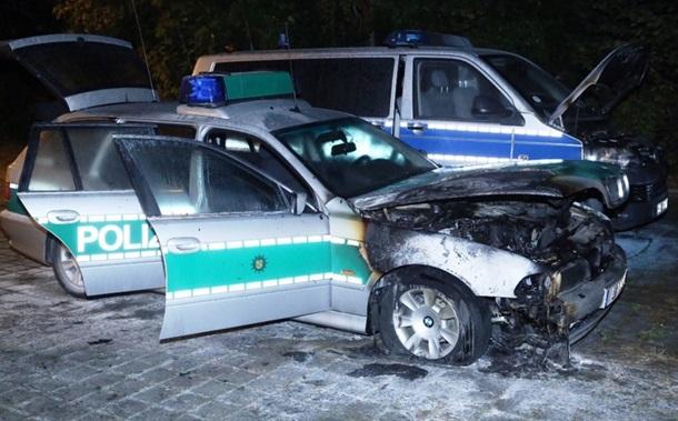 ВДрездене подожгли три полицейских автомобиля