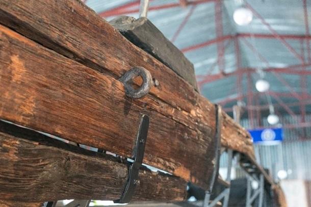 Взаповеднике «Хортица» презентовали отреставрированные стародавние суда
