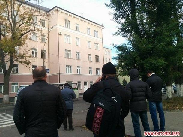 В Житомире загорелось полицейское управление
