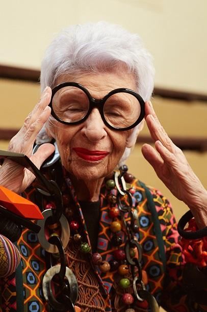 В рекламе очков сняли 94-летнюю модель