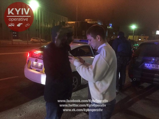 Милиция спогоней задержала нетрезвых «уважаемых» СБУшников: «наместе порешать» неудалось