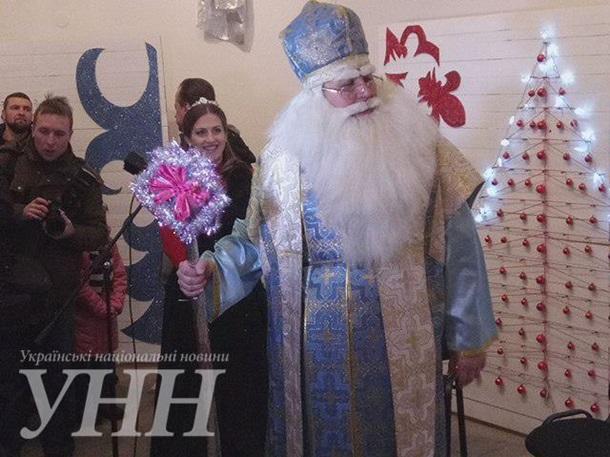 Новогодняя резиденция Святого Николая в Киеве
