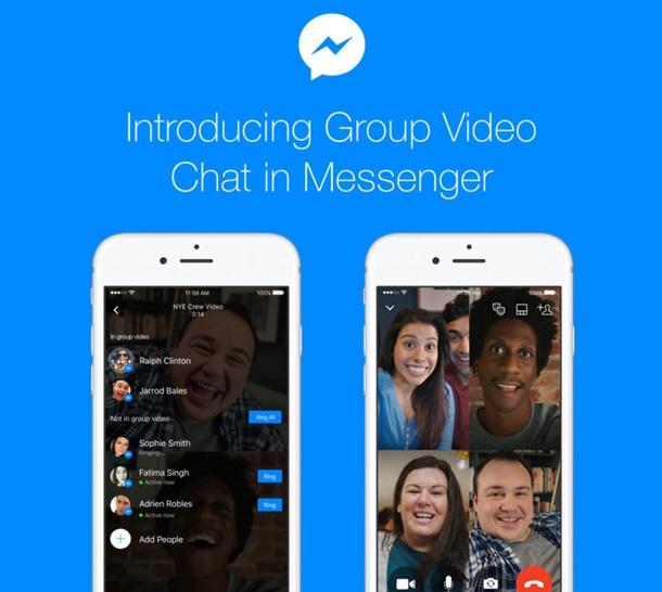 Facebook запустил в Massanger групповые видеозвонки
