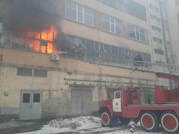 ВоЛьвове горел завод «Электрон»