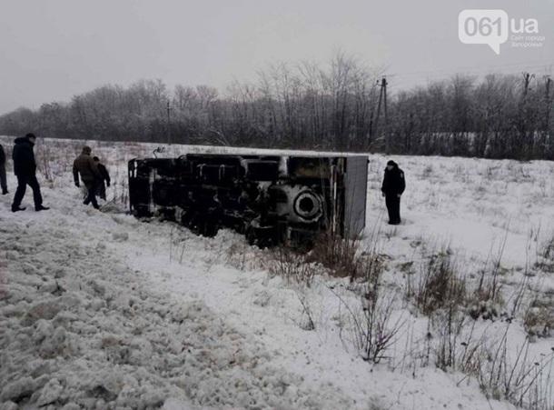 ВЗапорожской области перевернулась машина сзаключенными
