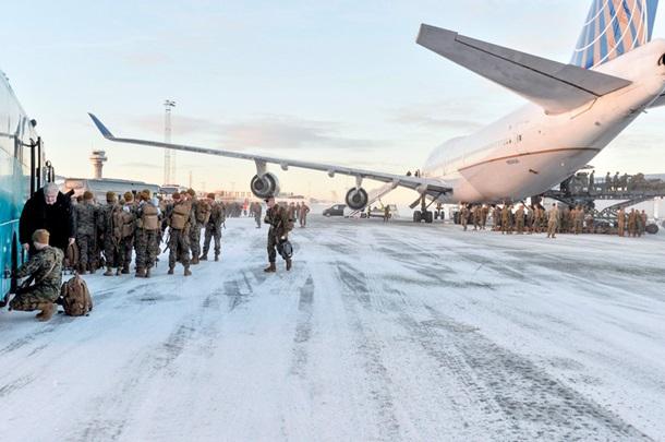 Впервый раз современ 2-ой мировой вНорвегию прибыли пехотинцы США