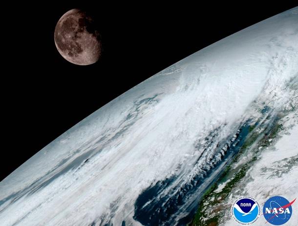Самый новый метеоспутник NASA сделал HD-снимок Земли иЛуны