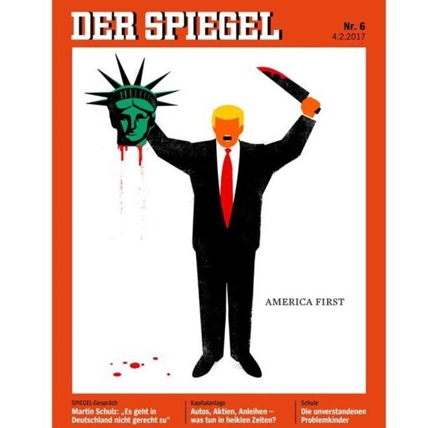 «Шпигель» поместил наобложку Трампа сотрезанной головой статуи Свободы