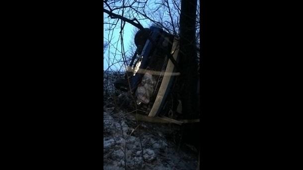 ВУкраинском государстве автобус спассажирами рухнул собрыва