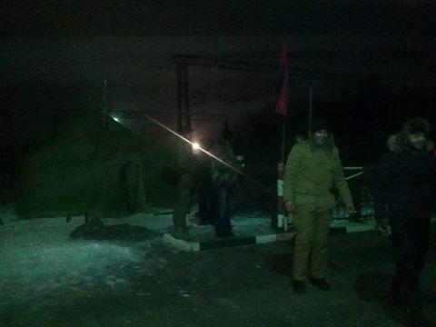 Украинские террористы заблокировали очередной участок железной дороги вДонбассе