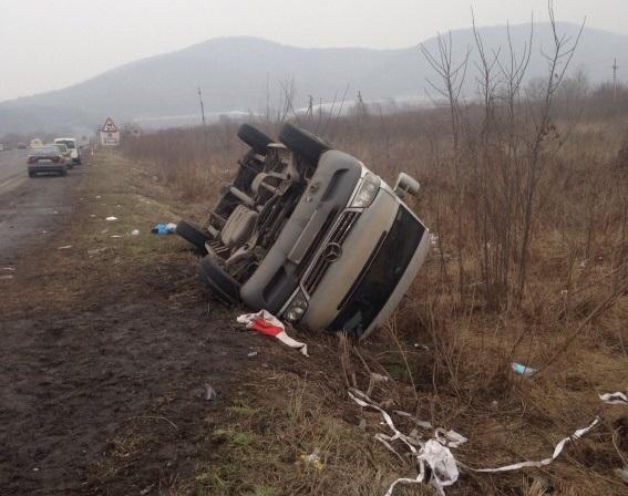 ВЗакарпатской области автобус перевернулся вкювет, семеро пострадавших