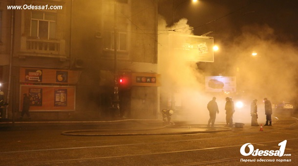 Вцентре Одессы произошел пожар вжилом доме