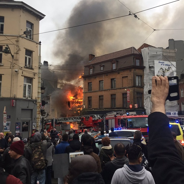 ВБрюсселе рухнул четырехэтажный дом