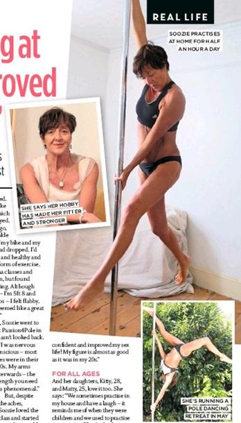 Британка в 60 лет стала тренером по стриптизу