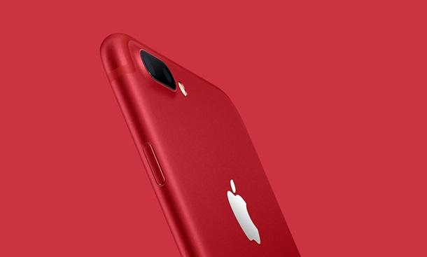 Компания Apple официально выпустила красные iPhone 7