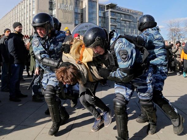 Навальный схвачен намарше против коррупции в столице