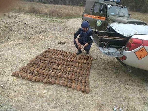 Пиротехники обезвредили 119 мин 2-ой мировой войны сЛысой горы столицы