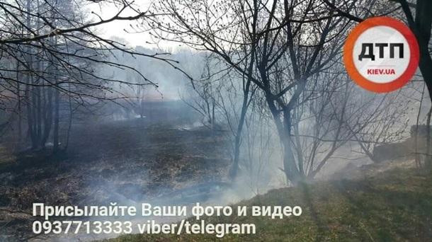 НаСовских прудах вКиеве произошел масштабный пожар