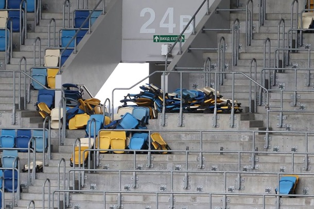 Жертвы воимя «Евровидения»: на«Арена Львов» демонтировали 20% зрительских кресел