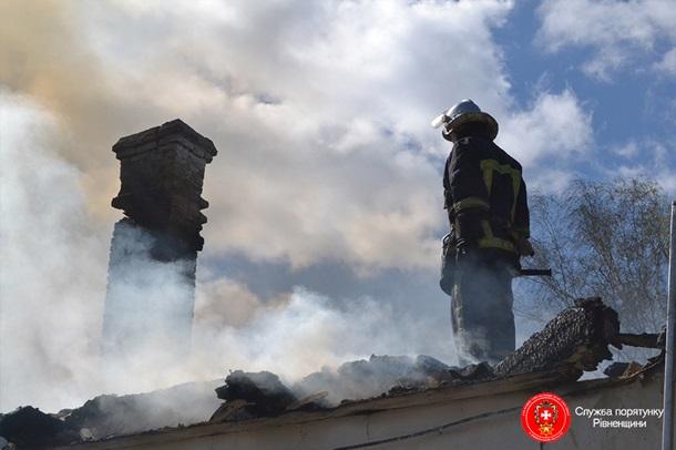 ВРовенской области сгорела крыша сельской школы