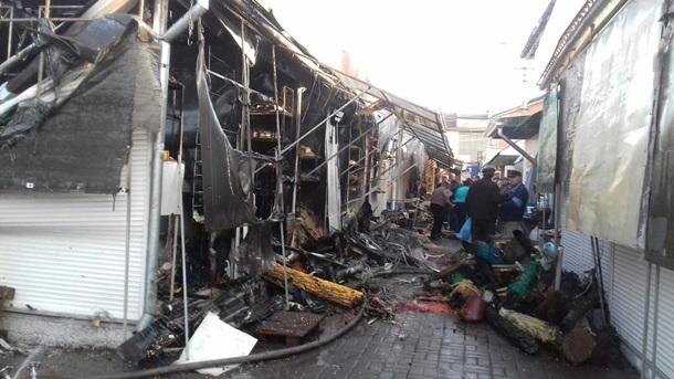 На основном  рынке вВиннице произошел масштабный пожар