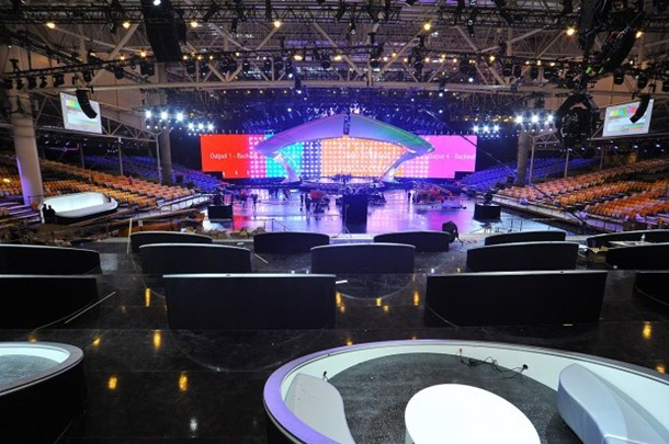 Будівництво головної сцени Євробачення завершене